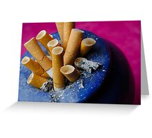 Cigarette butts in ashtray Greeting Card