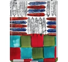 Indian Feather Leaves in Color Blocks iPad Case/Skin