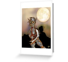 Wolfman and Full Moon Greeting Card