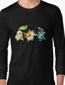 pokemon starter 1 Long Sleeve T-Shirt