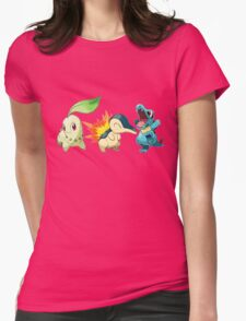 pokemon starter 1 Womens Fitted T-Shirt