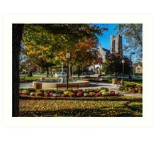 Columbus Day Weekend in the Village Art Print