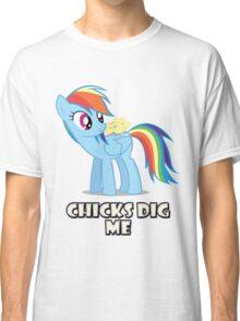 "Rainbow Dash - ""Chicks"" Classic T-Shirt"
