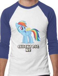 "Rainbow Dash - ""Chicks"" Men's Baseball ¾ T-Shirt"