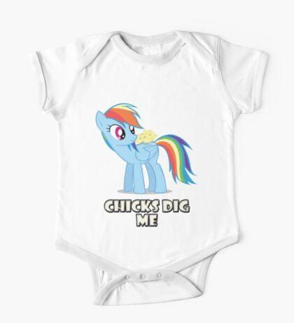 "Rainbow Dash - ""Chicks"" One Piece - Short Sleeve"