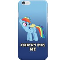 "Rainbow Dash - ""Chicks"" iPhone Case/Skin"