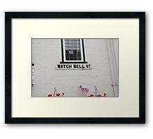 Watch Bell Street, Rye Framed Print