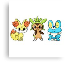 pokemon starter 3 Canvas Print