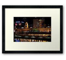 2250 Flinders Street Station Lights Up Framed Print