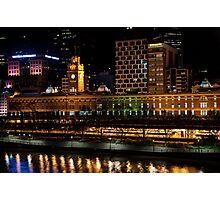 2250 Flinders Street Station Lights Up Photographic Print