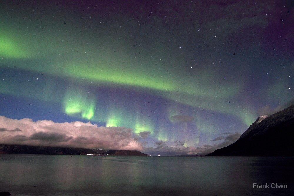 Aurora Borealis & clouds I by Frank Olsen