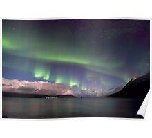 Aurora Borealis & clouds I Poster