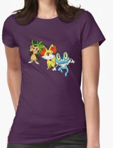 pokemon starter 6 Womens Fitted T-Shirt