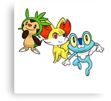 pokemon starter 6 Canvas Print