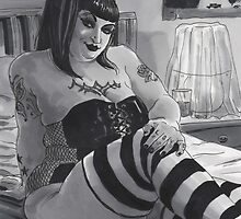 NoHo Noir: The Seductress by marksatchwillart