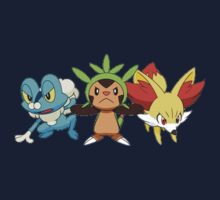pokemon starter 7 Kids Tee