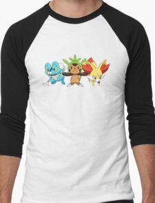 pokemon starter 7 Men's Baseball ¾ T-Shirt