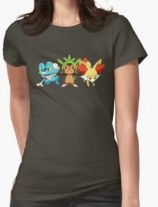 pokemon starter 7 Womens Fitted T-Shirt