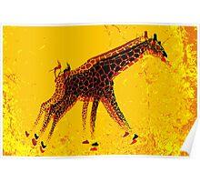 Running Giraffe  Poster
