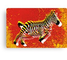 Escape of  Zebra Canvas Print