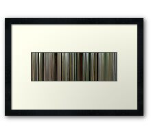 Moviebarcode: Blood Diamond (2006) Framed Print