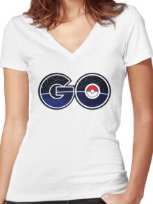 pokemon go logo Women's Fitted V-Neck T-Shirt