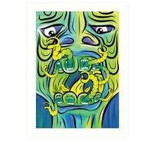 Hungry Apples psychedelic poster Art Print