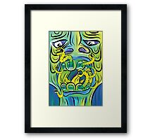 Hungry Apples psychedelic poster Framed Print