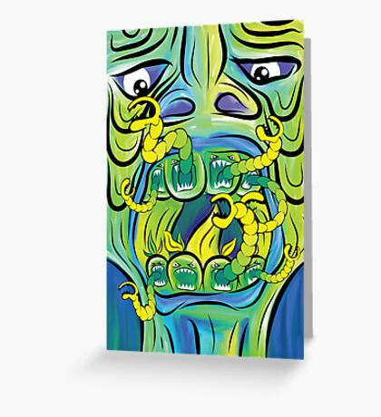 Hungry Apples psychedelic poster Greeting Card