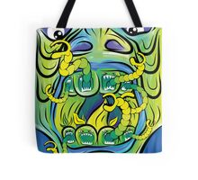 Hungry Apples psychedelic poster Tote Bag
