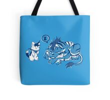 the cat and the tiger Tote Bag