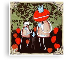 tea with pumpkin king Canvas Print