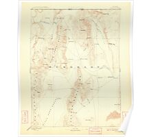 USGS Topo Map Nevada Disaster 321657 1893 250000 Poster