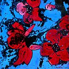 Distressed Bright Flowers  by Jewel  Charsley