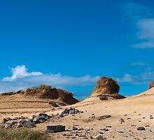 Landscape, Sand dunes, Wind sculped, Traigh Mhor beach by Hugh McKean