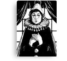 Sad Pierrot Canvas Print
