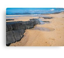 Landscape, Traigh Mhor beach, Finger of rock Metal Print