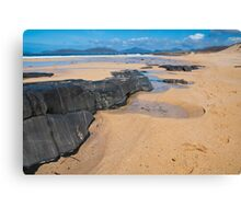 Landscape, Traigh Mhor beach, Finger of rock Canvas Print