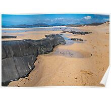 Landscape, Traigh Mhor beach, Finger of rock Poster