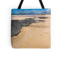 Landscape, Traigh Mhor beach, Finger of rock Tote Bag