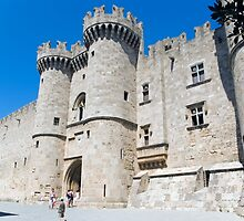 Knights castle at Rhodos Island, Greece by Ivo Velinov
