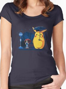 pokemon totoro scene Women's Fitted Scoop T-Shirt