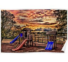 Playground At Dusk Poster