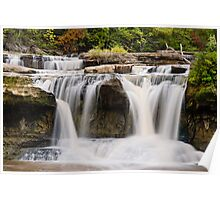 Upper Catarct Falls Pours trhough Boulders Poster