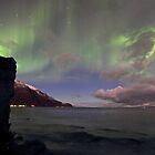 The rock & aurora by Frank Olsen