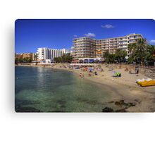 Santa Eulalia Beach and Promenade Canvas Print