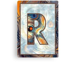 Fractal – Alphabet – R is for Randomness Canvas Print