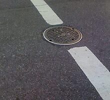 Striped Manhole by Mark Roon-Reitmeier