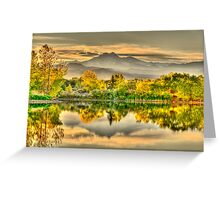 Golden Moments, Gilded Dreams Greeting Card