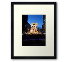 Frankfurt Christmas Market Bars in Birmingham at Night Framed Print